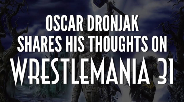 HAMMERFALL | Oscar Dronjak shares his thoughts on Wrestlemania 31‏