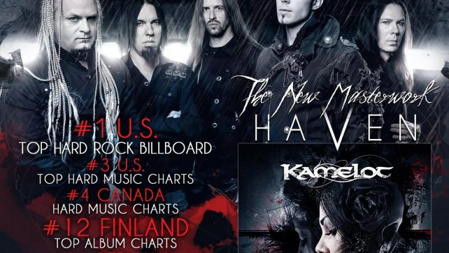 KAMELOT HIT THE WORLDWIDE CHARTS!