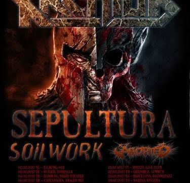 ABORTED announce European tour with Kreator, Sepultura and Soilwork