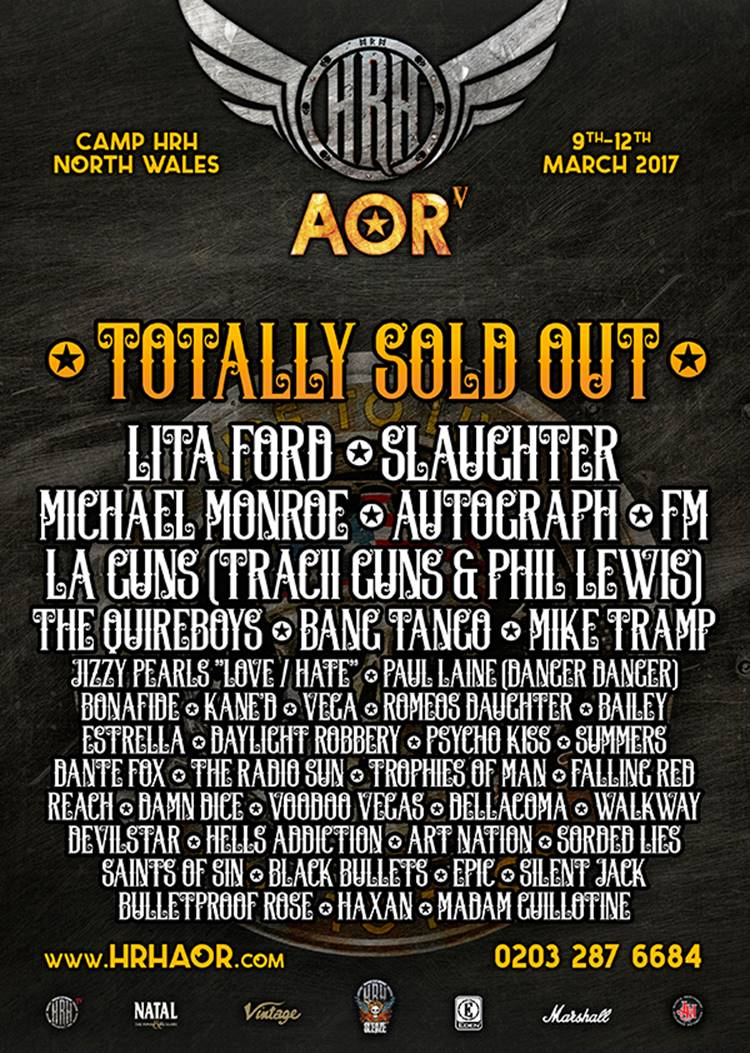 HARD ROCK HELL AOR 2017