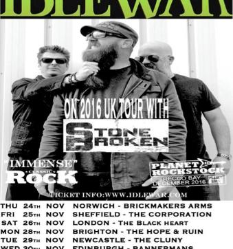 Stone Broken confirm Californians Idlewar for 2016 UK Tour