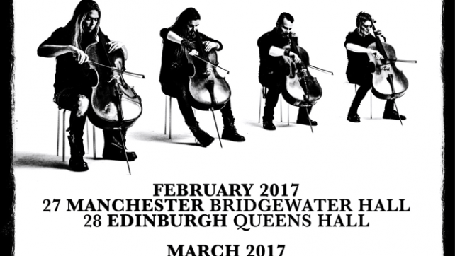 APOCALYPTICA CELEBRATES THE 20TH ANNIVERSARYOF PLAYS METALLICA BY FOUR CELLOS WITH EXCLUSIVE UK SHOWS