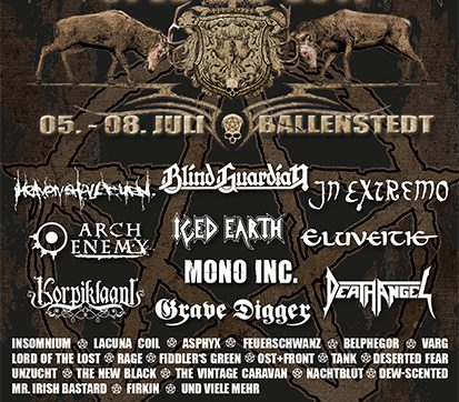 ROCKHARZ Open Air 2017: MOONSPELL, CIVIL WAR and DAWN OF DISEASE confirmed